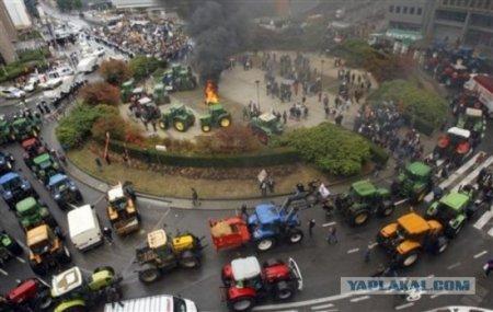 Демонстрация по-фермерски