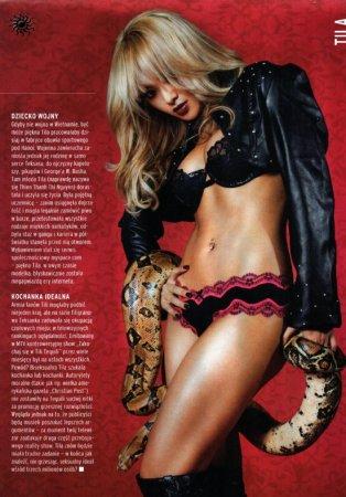 Тила Текила со змеей в CKM Magazine