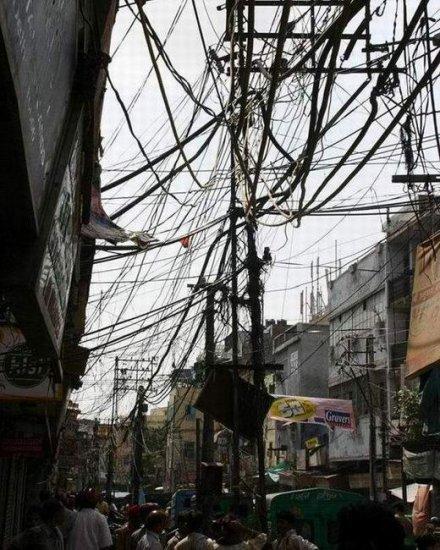 Телефонные линии в Китае
