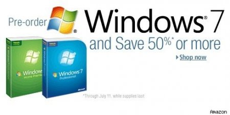 Windows 7 бьет все рекорды на Amazon