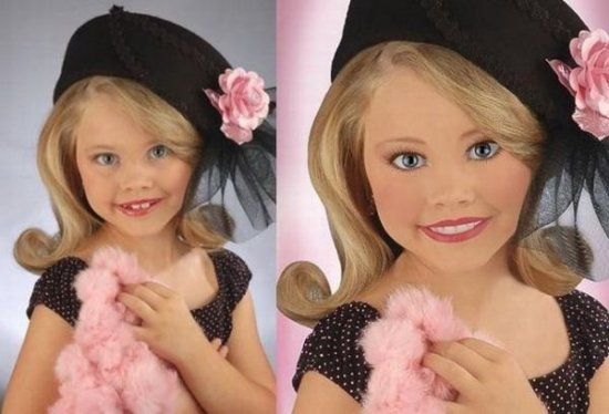 Дети -  до и после фотошопа