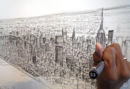 Гигантская пятиметровая панорама Нью-Йорка по памяти