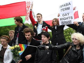 Фотография с Гей-парада в Москве