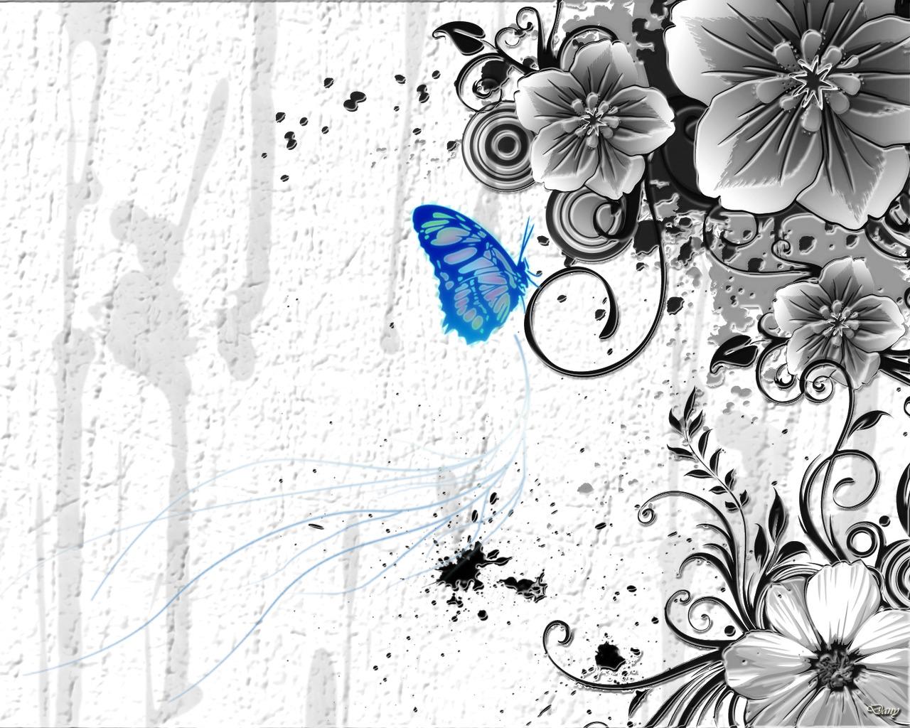 Обои бабочка обои абстракция