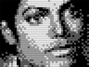 Немецкий художник собрал из Lego портрет Джексона