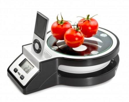 Кухонные весы Rihanna со встроенной док станцией для iPod