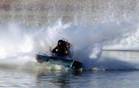 Авария на водных гонках
