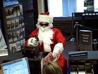 """Задолжавший эльфам"" Санта-Клаус ограбил банк"