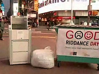В Нью-Йорке установили шредеры для плохих воспоминаний