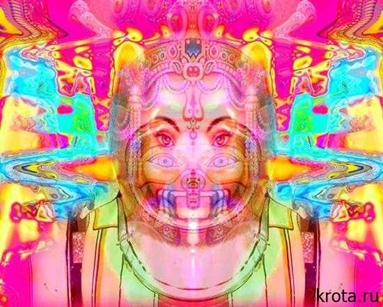 Предновогодние психоделические картинки