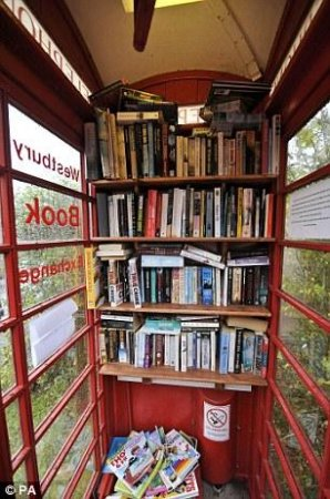 Англичане открыли библиотеку в телефонной будке