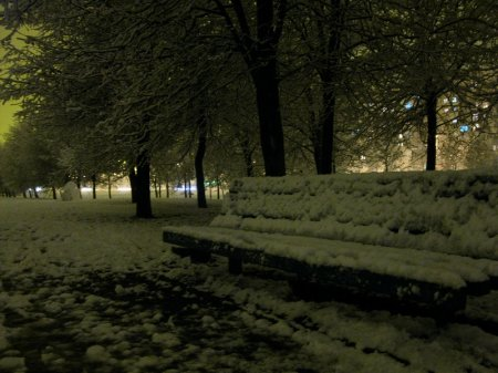 Восток. Первый снег