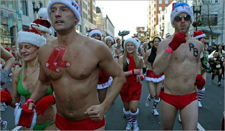 Santa Speedo Run 2009