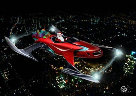 Транспорт Деда Мороза 21 века