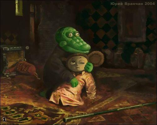 Крокодил Гена и Чебурашка