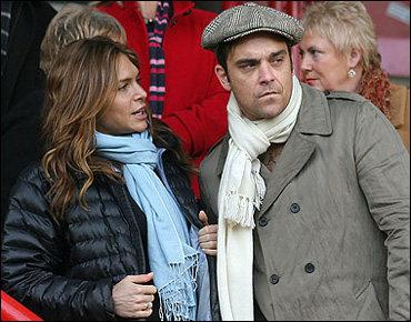 Певец Робби Уильямс женится в день Святого Валентина