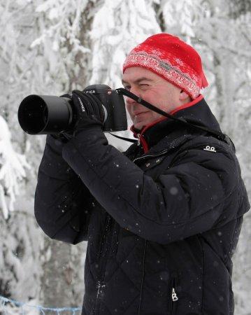 Медведев в роли фотографа