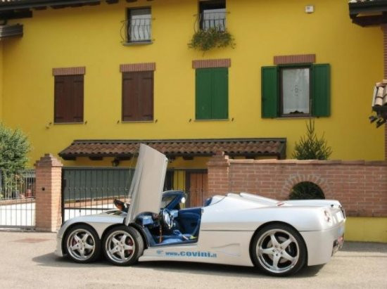Шестиколесный суперкар от Covini