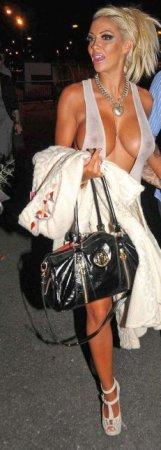 Jodie Marsh в клевом платье