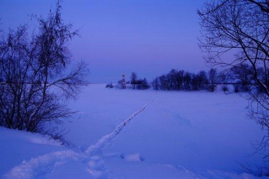 Зимние деревенские пейзажи