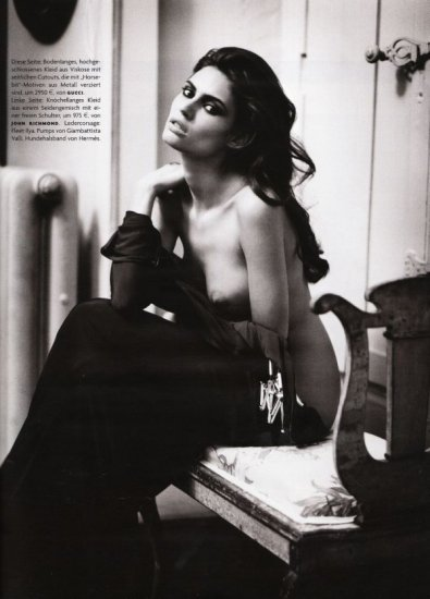 Bianca Balti для Vogue Germany... Фотограф Vincent Peters