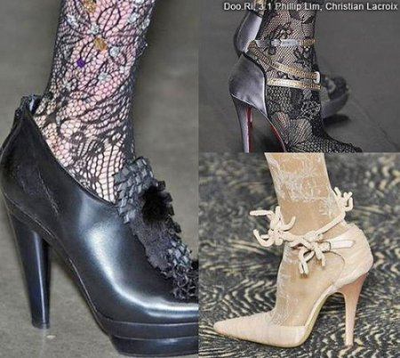 Одеваем наши ножки:  модные колготки'2010