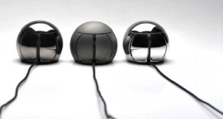 Стальная сенсорнная мышь-шар за $155