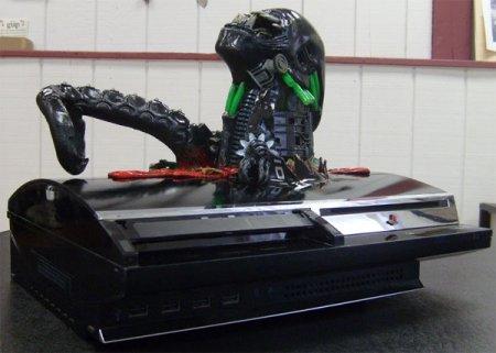 Alien Chestburster Cyborg Mod - жутковатый моддинг игровой консоли