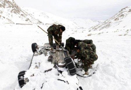 Снежные лавины в Афганистане