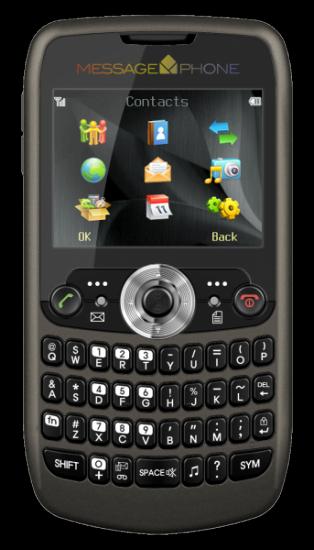 Synchronica MessagePhone - самый бюджетный QWERTY смартфон