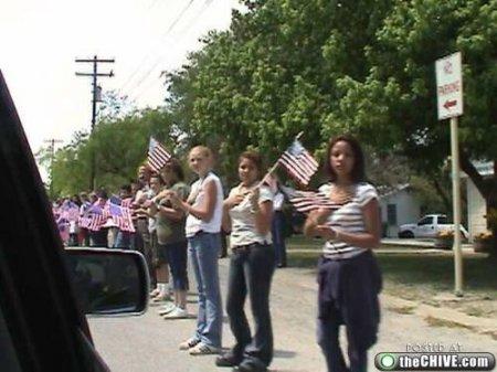 Похороны погибшего в Ираке солдата армии США