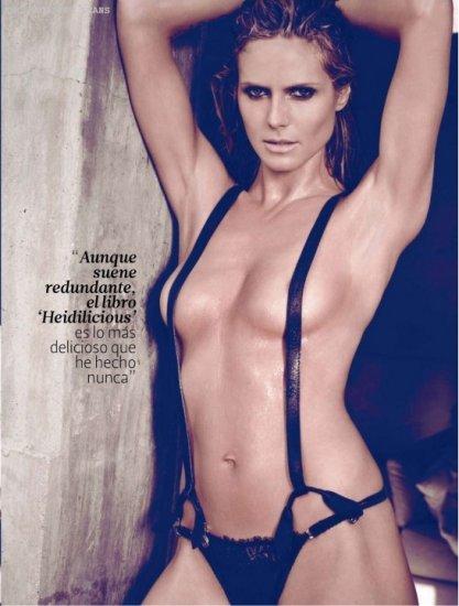 Хайди Клум в топлесс-фотосессии для DT Magazine