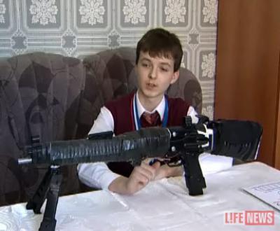 Школьник изобрел новый вид боевой винтовки