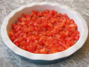 Омлет с ветчиной и помидорами
