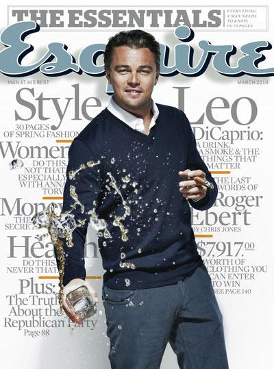 Леонардо ДиКаприо в Esquire, март 2010