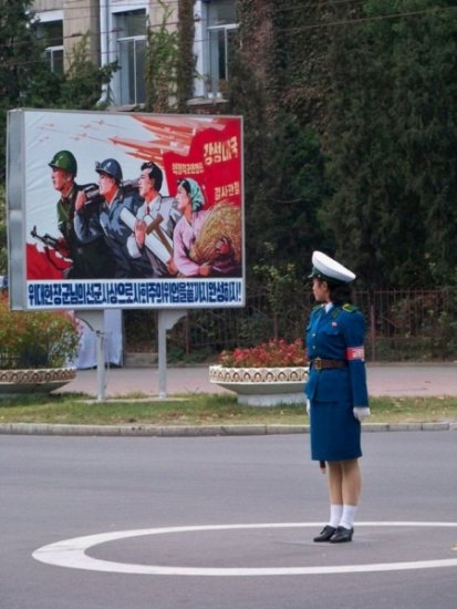 Северокорейские регулировщицы