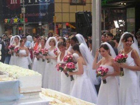 Забавное соревнование невест