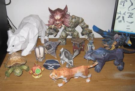 World Of Warcraft из бумаги