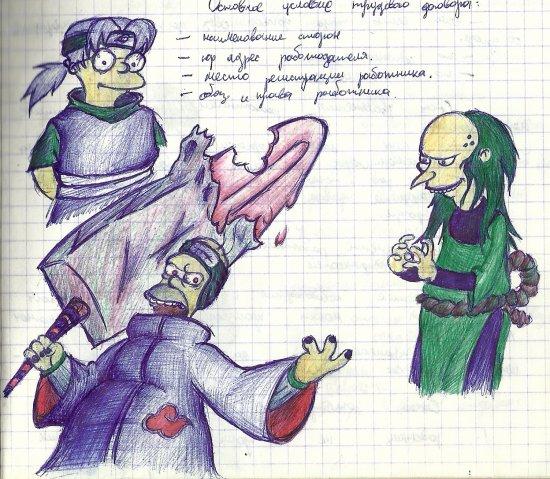 Рисунки на парах (часть 2)