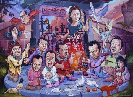 Жутковатые карикатуры на знаменитостей
