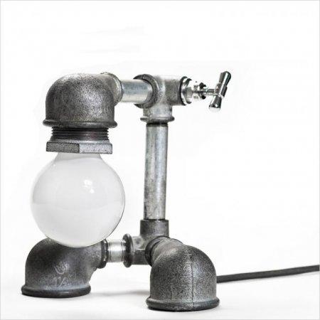 Настольные лампы из водопроводных труб