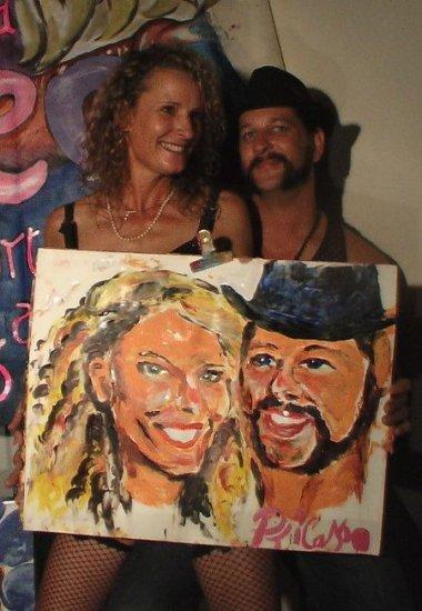 Портреты, нарисованные... пипетоном!