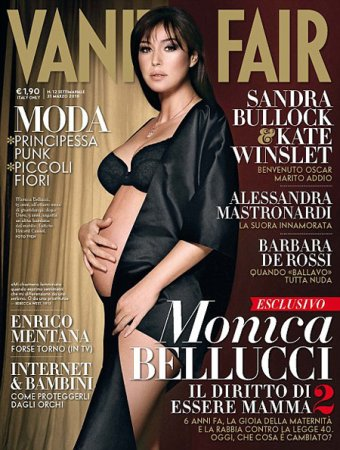 Беременная Моника Беллуччи снова обнажилась для глянца