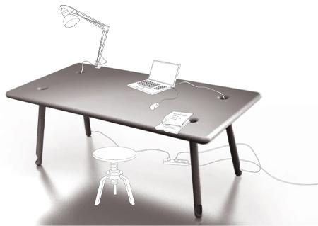 aTable - концептуальный стол для любителей порядка