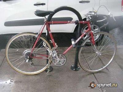 Забавные велопарковки