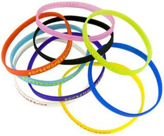 Силиконовые браслеты или резинки на руку