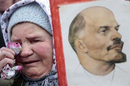 Ленин - жил, Ленин - жив, Ленин - будет жить!