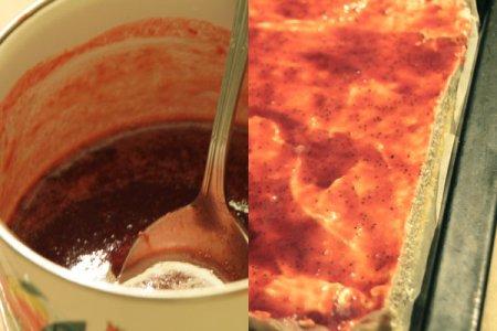 Кокосово-клубничное пирожное