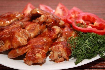 Куриные крылья в кисло-сладком соусе