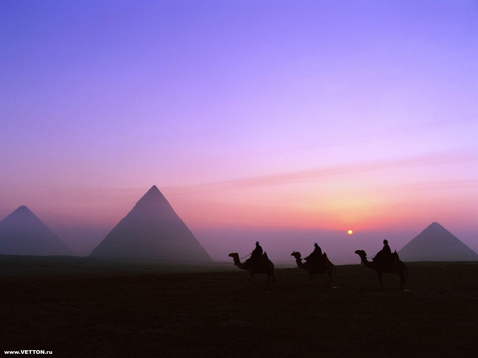 Пирамиды Египта Фото.